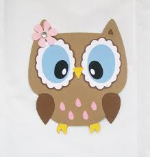 owl decor owl die cut owl with open eyes owl decor on luulla