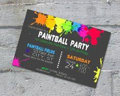 free printable paintball party invitations paintball party