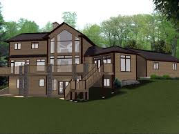 ranch house plans with walkout basement basement hillside walkout basement house plans