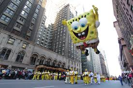 macys thanksgiving day parade new york sightseeing spongebob