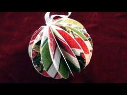 how to make a paper ball christmas ornament youtube