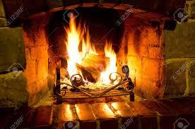 fire in fireplace binhminh decoration