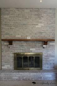 White Washed Stone Fireplace Life by How To Whitewash A Brick Fireplace Life On Shady Lane