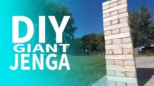 how to make a giant jenga tower youtube
