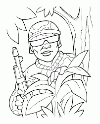 coloring pages soldier kids coloring