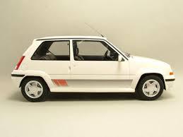 renault super 5 renault super 5 gt turbo 1987 blanc métallique modèle de voiture 1