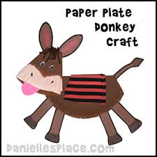 Palm Sunday Crafts For Kids - paper plate donkey craft for palm sunday lesson for