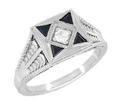 mens white gold rings vintage white gold rings for men antique