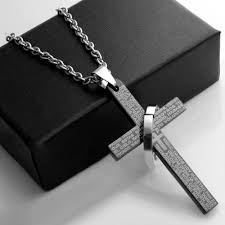 cremation jewelry for men black cremation jewelry necklace cross crucifix memorial funeral
