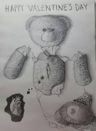 teddy bear graphite pencil drawing sad depression cry crying art