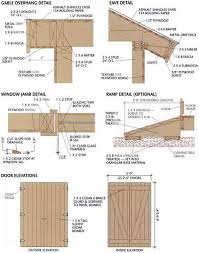 Free Plans To Build A Wood Shed by Free Shed Plans 8x12 Gable Overhang Eave Jamb Ramp And Door