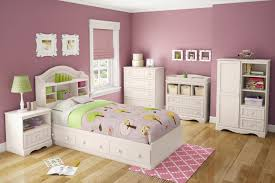 bedroom cheerful pink theme bedroom for girls using white wood