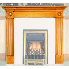 small georgian wooden fireplace mantel