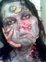 black eye cut lip strangulation makeup morgue special fx