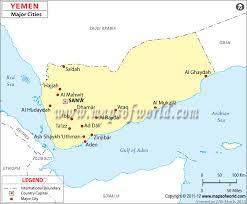 where is yemen on the map yemen cities map major cities in yemen
