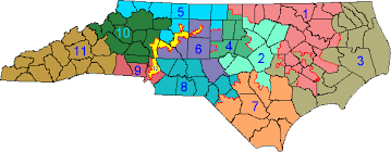 nc state representative district map map usa map images