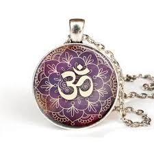 Lotus Flower With Om Symbol - online buy wholesale om symbol necklace for men from china om