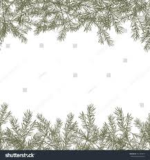 pine tree branches borders on white stock vector 512184919