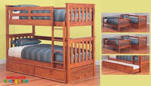 Tilly Single Bunk Bed Teak Beds Online - Single bunk beds