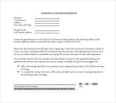 types of acknowledgement letters pdf