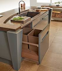 kitchen island with trash bin kitchen pull out trash bins both functional and aesthetical