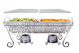 full size ornate disposable chafing dish set 11 pcs