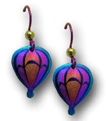 niobium earrings lindarae jewelry medium niobium hot air balloon earrings