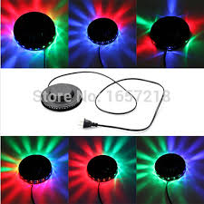 stage lighting mounting bars 5w 220vrgb auto color changing rotating 48 leds ufo sunflower led