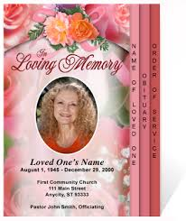 beautiful funeral programs beautiful funeral programs diy rosy 4 page graduated step fold