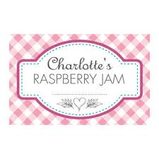 personalised gingham jam jar labels by able labels