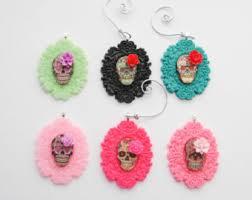 sugar skull christmas ornament day of the dead ornament