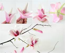 watercolor paper flower tutorial paper magnolia flower tutorial