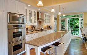 one wall kitchen with island designs galley kitchen with island layout home design ideas
