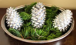 diy chrome pinecones baby baby lemon