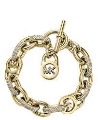 gold tone chain link bracelet images Michael kors gold tone chain link toggle padlock bracelet in gold jpg