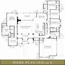 Center Hall Colonial Floor Plan 3500 To 4000 Square Feet Modern House Plans Luxihome