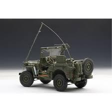 jeep willys jeep willys army green diecast autoart 1 18
