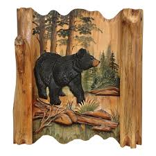 black forest carved wood wall