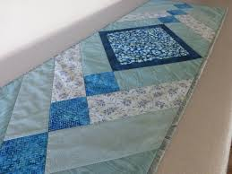 Turquoise Kitchen Decor by Blue Green Quilted Table Runner Sea Glass Quilt Topper Turquoise