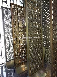decorative laser cut metal panel privacy screen room divider