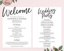 printable wedding programs greenery wedding programs template printable wedding program