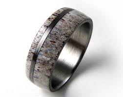 antler wedding ring antler wedding band etsy