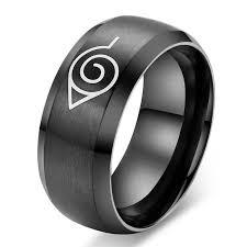 cool rings for men black ring 8mm titanium steel ring stainless steel band