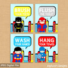 Superhero Bathroom Sets by Accessories Cool Set Superhero Bathroom Signs Batman