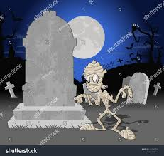 halloween background funny halloween cemetery background tombs funny cartoon stock vector