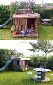 20 creative carpentry with wood pallets garden playhouse kid