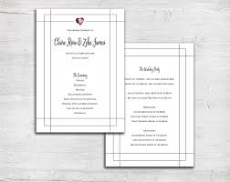 flat wedding programs galaxy design flat wedding program heart watercolor ceremony