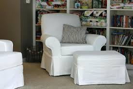 Oversized Chair Slipcover Oversized Chair Ottoman Slipcovers Tag Chair And Ottoman