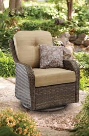 Patio Furniture Swivel Chairs Outdoor Wicker Chair Swivel Rocking Steel Frame Glider Porch Patio
