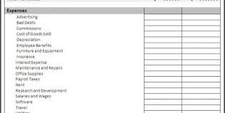 free income and expense forms income and expense statement